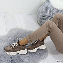 Кроссовки коричневые женские, фото 3