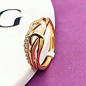 Женское кольцо, медицинское золото Xuping. Размер 16