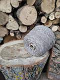 Полушерсть 87%LANA(шерсть) 7% полиамид 6% акрил ореховая скорлупа букле светлые короткие секции, фото 3