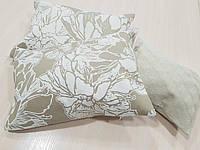 Комплект подушек Бабочки и цветы беж, 3шт, фото 1