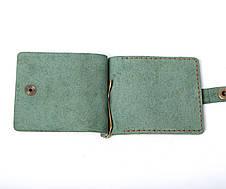 Кожаный зажим для денег Zosh мужской Зеленый, фото 2