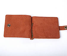 Кожаный зажим для денег Zosh мужской Янтарный, фото 2