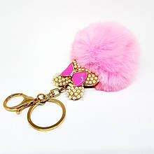 Брелок меховой Rabbit pink