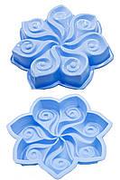 Силиконовая форма для выпечки и муссовых десертов Цветок узорный 30 см 4,5 см