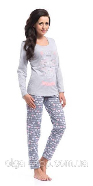 Пижама женская Dobra Nocka 8022 брючная хлопковая