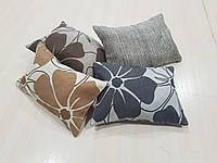 Комплект подушек цветок абстракция цветные, 4шт, фото 1