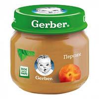 Пюре детское фруктовое персик 4м+ 80г Gerber Швейцария 1227146