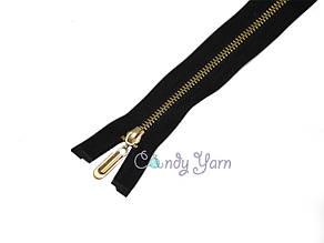 Zipper Металлическая молния, звено GOLD,черная,65см.2б.