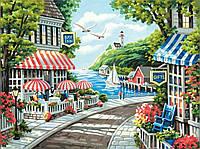 """Алмазная вышивка """"Морской пейзаж"""",отдых у моря,полная выкладка, ,мозаика 5d, наборы 45х35 см"""