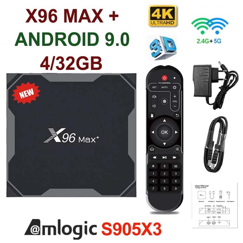 TV-Приставка X96 MAX+ DDR4 4GB/32GB S905X3 (Android Smart TV Box)