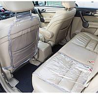 Защита на спинку сиденья и сидушку в машину Organize серая SKL34-222114