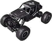 Автомобиль OFF-ROAD CRAWLER на радиоуправлении – TIGER матовый черный, аккумуляторы 4,8V, металлический корпус, 1:18, SL-111RHMBl