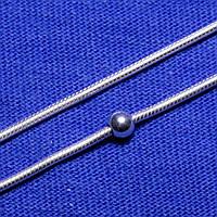Срібний браслет Снейк і Куля 17 см 9283110503