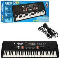 Детский синтезатор от сети с микрофоном 61 клавиша