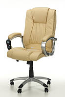 Крісло офісне Calviano Manline бежеве масаж + підігрів