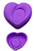 Силиконовая форма для выпечки и муссовых десертов Сердце Амур 22 см, высота 5,0 см