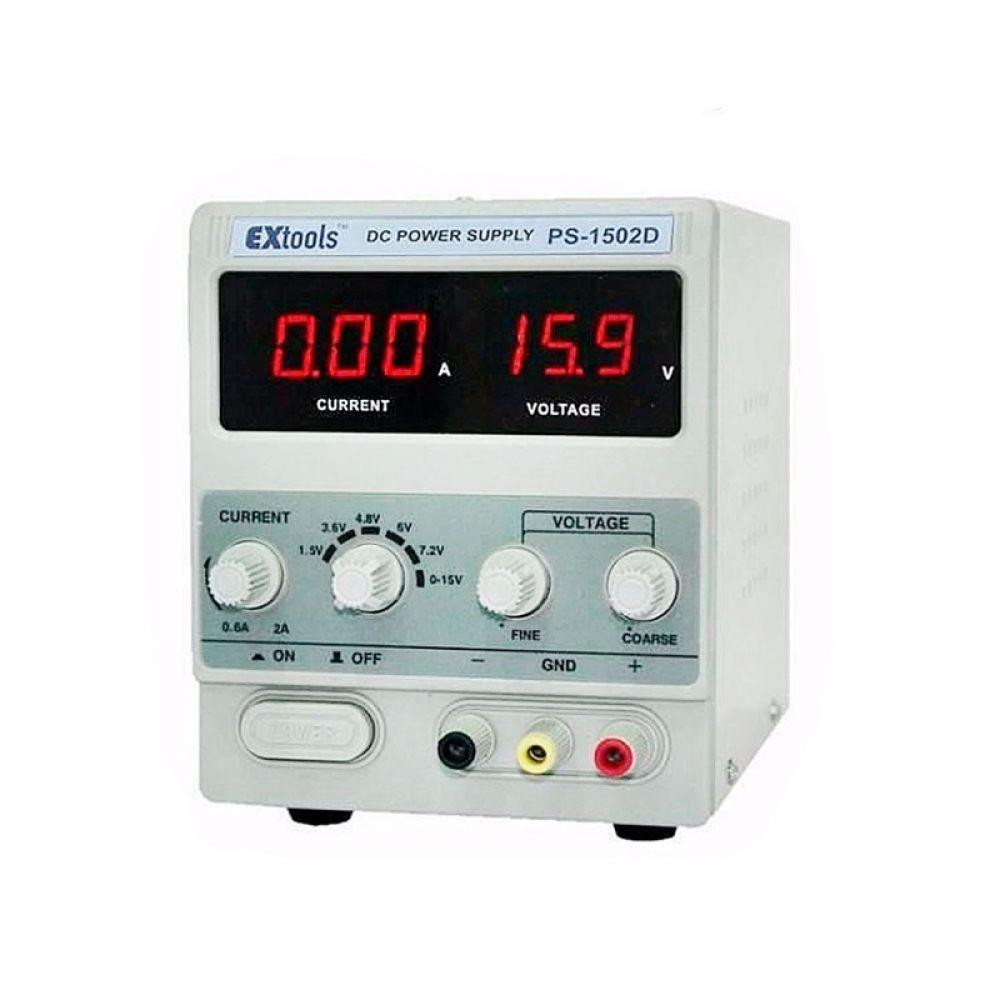 Лабораторный блок питания PS-1502D, 15B, 2A, EXtools