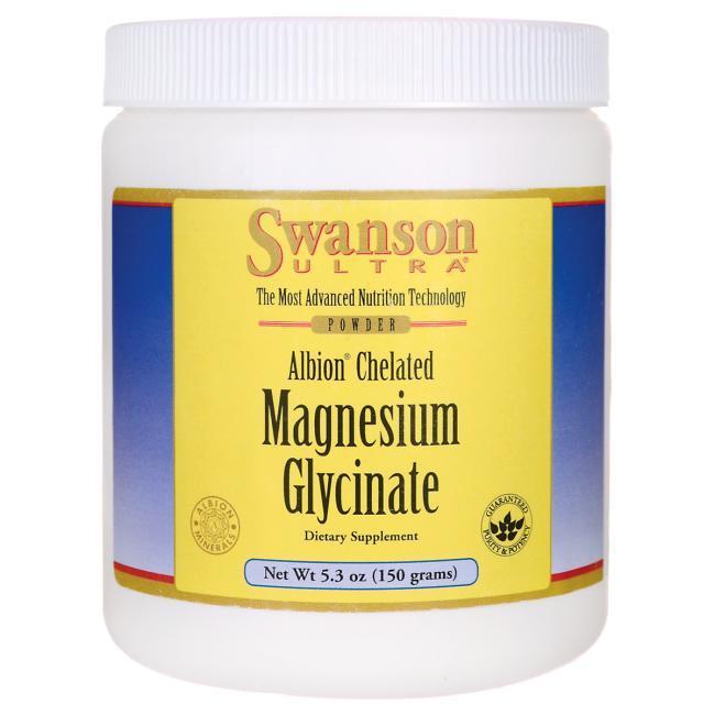 Swanson Ultra Albion Chelated Magnesium Glycinate Магния глицинат 400 мг магния на порцию 150 гр 30 порций