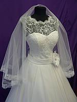 Свадебное платье 42-44-46 размера с шифоновой юбкой