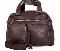 Жіноча дорожня сумка коричневого кольору