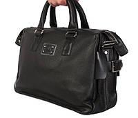 Стильная дорожная сумка черного цвета, фото 1