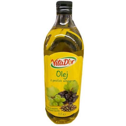 Масло из виноградных косточек Vita D'or Olej z Pestek Winogron 1л Португалия, фото 2