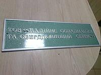 Табличка з об'ємними літерами. Табличка с объемными буквами