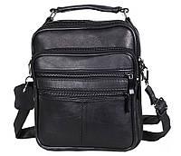 Мужская кожаная сумка Dovhani SW8723 Черная, фото 1
