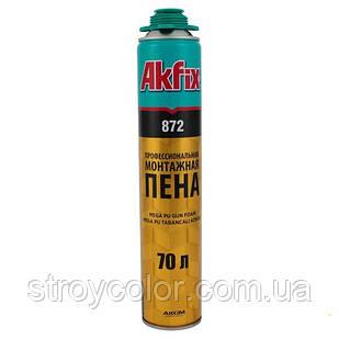 Піна монтажна Akfix профі 872 SUPER MEGA 850 мл 70 л (FA018)