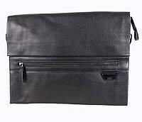 Мужская кожаная сумка под А4 Dovhani Black172 Черная, фото 1