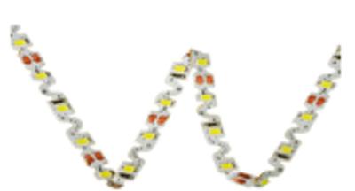 Жовта світлодіодна стрічка 7.2Вт 12вольт S-форми 3D-2835-60-12 S-TYPE гнучка