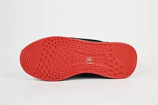 Кроссовки Vikonty 86792 Черно-красные текстиль, фото 3