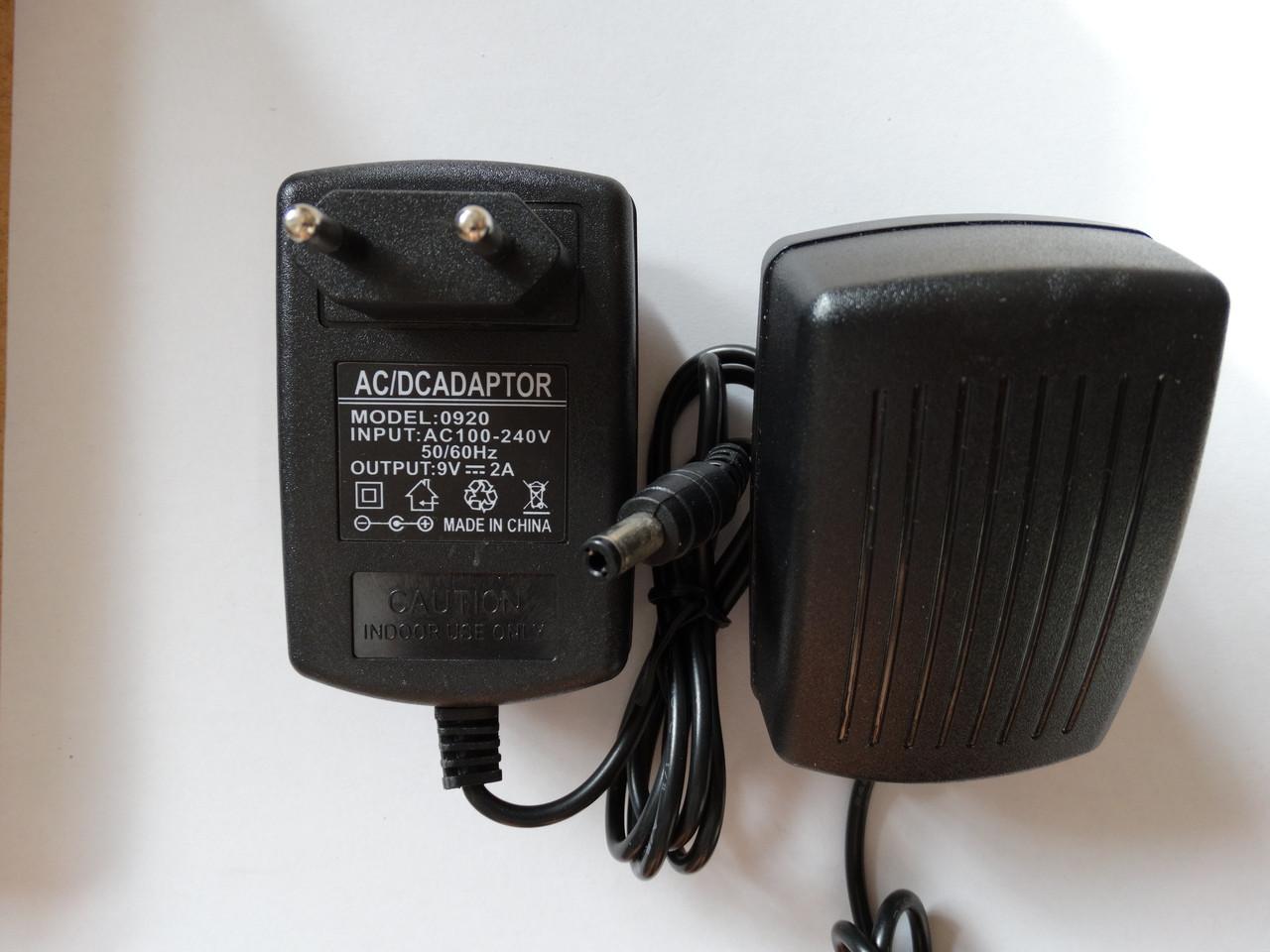 9v 2A Блок живлення зарядка штекер 5,5х2,5 мм