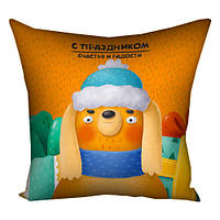 Подушка с принтом 30х30 см С праздником (3P_20NG017_RUS)