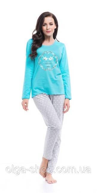 Пижама женская Dobra Nocka 8031 брючная хлопковая
