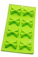 Силиконовая форма для мармелада и десертов Бантики на 8 ячеек