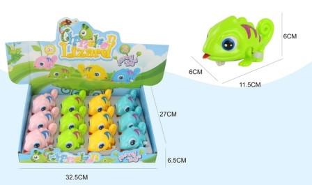 """Заводна іграшка """"Хамелеон"""", 4 кольори, 5801B"""