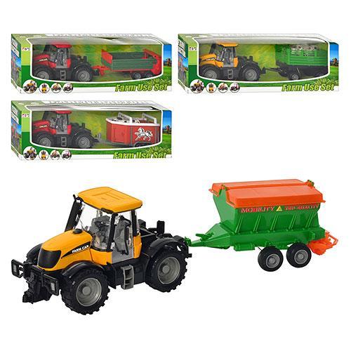 Комбаин-трактор с прицепом, инерционный, 4 вида, 1155A-3155-4155-5155