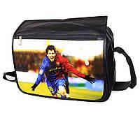Сумка для чоловіків формату А4 з фото Messi, фото 1