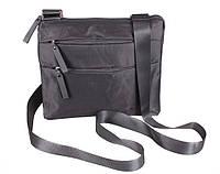 Стильна чоловіча сумка з поліестеру чорного кольору 301256, фото 1