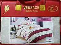 Комплект постельного белья евро размер Байка-сатин VERSACE  (F-570)