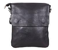 Стильная сумка черного цвета из натуральной кожи