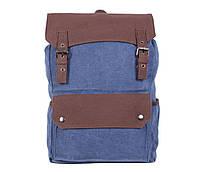 Синий рюкзак из качественного материала 6075-3BLUE Синий