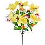 Букет орхидеи атласные с  колокольчиками, 46см (32 шт. в уп), фото 2