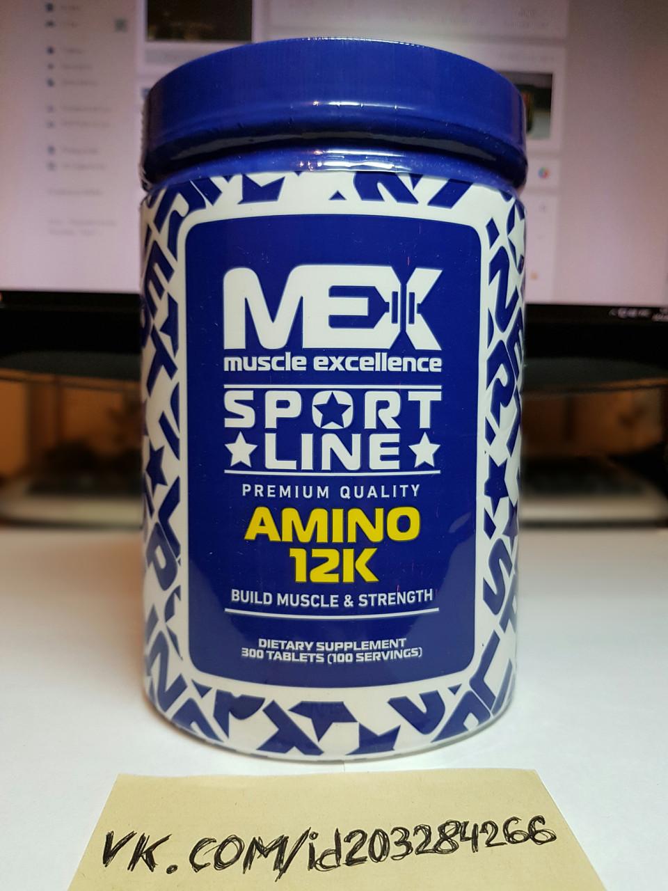 Комплекс аминокислот Mex Nutrition USA Amino 12K 300 таб