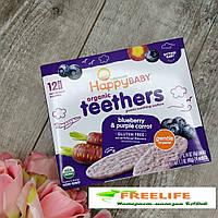 Happy Family Organics, вафли для мягкого прорезывания зубов у сидящих малышей 12 шт, официальный сайт