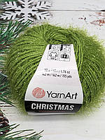 Пряжа ЯрнАрт Кристмас YarnArt Christmas, цвет №43 зеленый