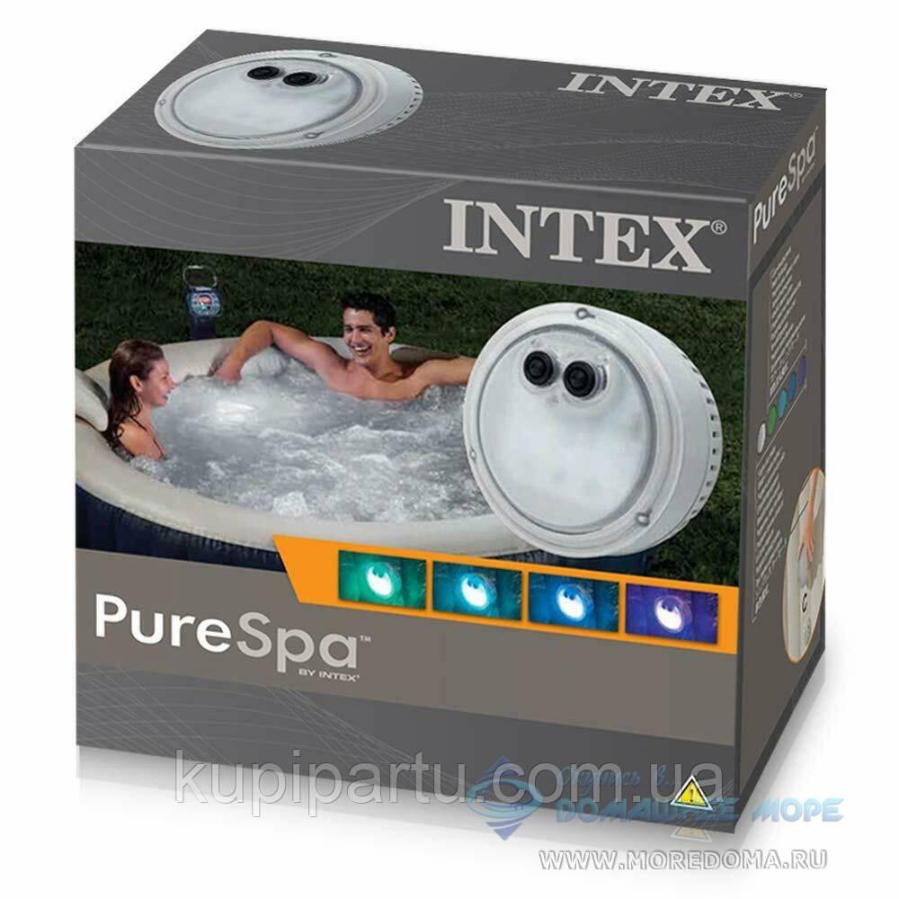 Підсвічування для джакузі Intex 28503 гідроелектрична, настінна лампа. Працює від батарейок 3 шт «ААА»