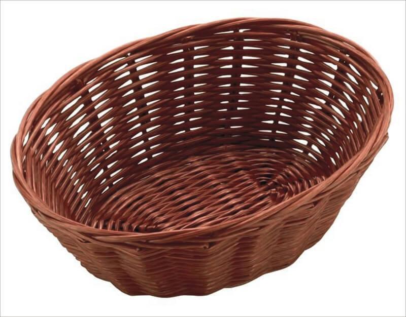 Кошик FoREST овальна темно-коричнева 18 х 13 см h6,5 см, Кошик для зберігання хліба. Хлібниця овальна