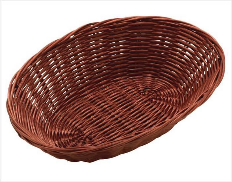 Корзина FoREST овальная темно-коричневая 23х15 см h6,5 см, Корзина для хранения хлеба. Хлебница овальная